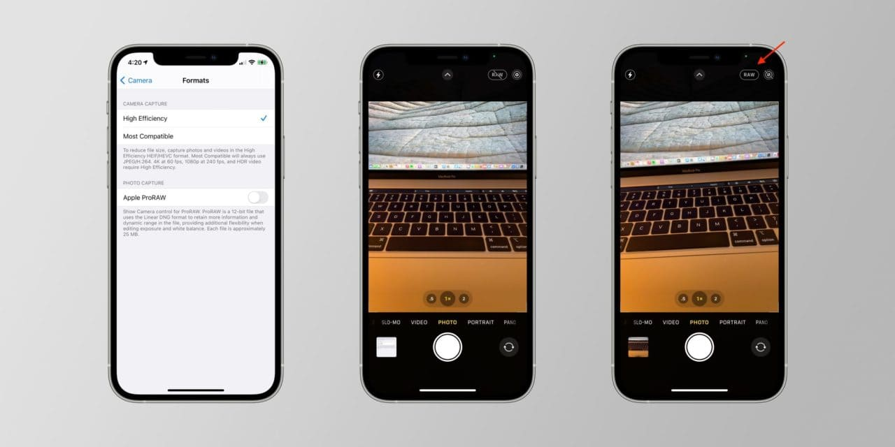 Как включить режим RAW на iPhone 12 и 12 Pro