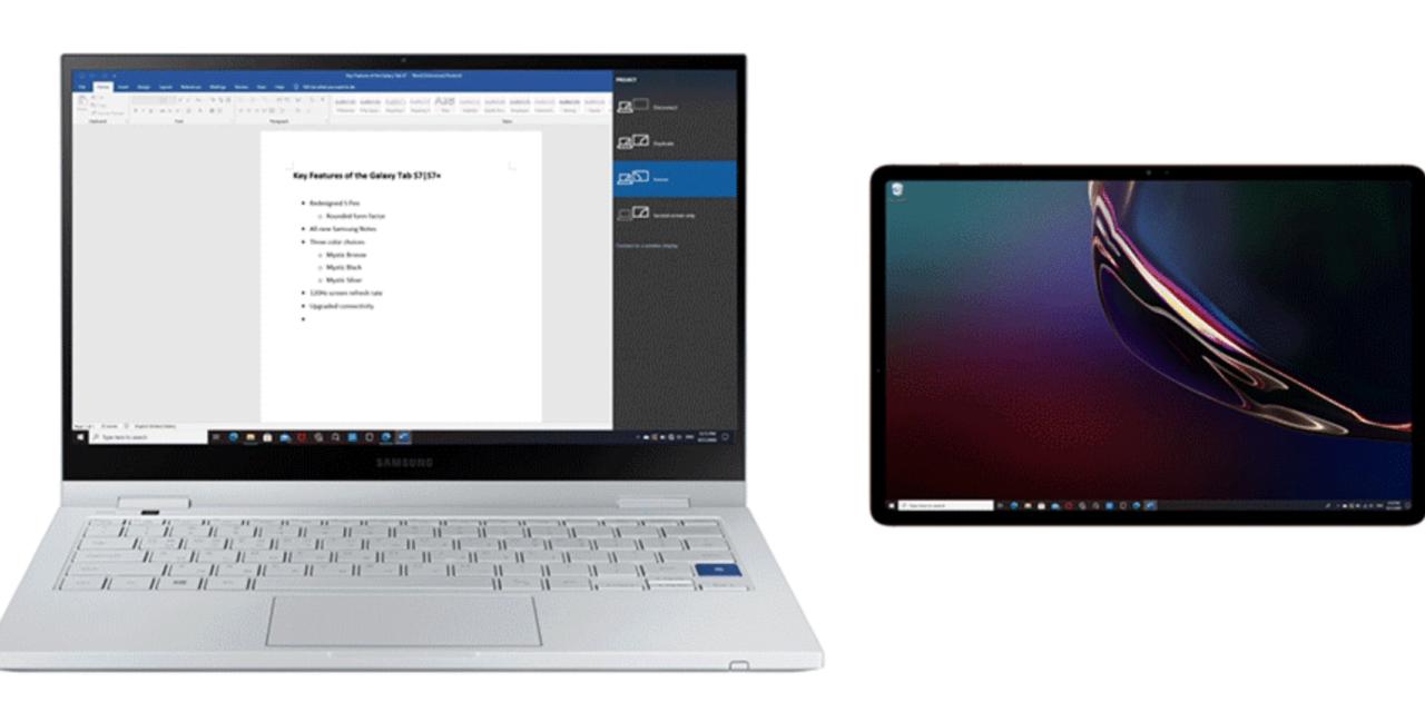 Планшет Samsung Galaxy Tab S7 как второй монитор для ПК или ноутбука с Windows 10