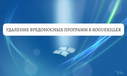 Удаление вредоносных программ в RogueKiller